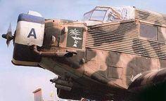 """""""Nice detail shot, anyone know what the blue and white colours on the cowling ring represent?"""" KB Junkers Ju 52 in Africa"""
