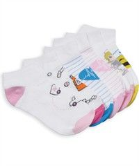 Nurse Mates Medical Mix 6-Pack of socks