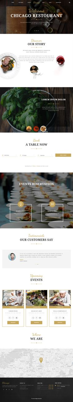 Chicago is Premium full Responsive Retina HTML5 #Restaurant template. Bootstrap 3. If you like this #RestaurantTemplate visit our handpicked list of best #CafeandRestaurantWebsitetemplates at: http://www.responsivemiracle.com/best-html5-cafe-restaurant-website-templates/