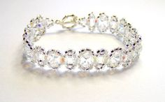 Elegant crystal and silver bracelet, wedding bracelet, brides bracelet, bridesmaid bracelet, crystal bracelet, bridal bracelet on Etsy, $20.08
