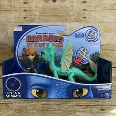 Dreamworks Dragons Rescue Riders LEYLA and SUMMER Action Figures with Sound New | eBay Dreamworks Dragons, Before Christmas, Free Items, Spin, Action Figures, Netflix, Toys, Summer, Ebay