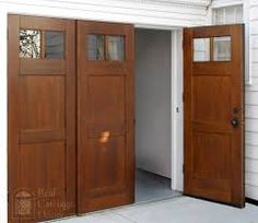 Bi-Folding Doors or Accordian Doors by Real Carriage Door Company & Beautiful Garage Doors | Carriage house garage Carriage house and ... Pezcame.Com