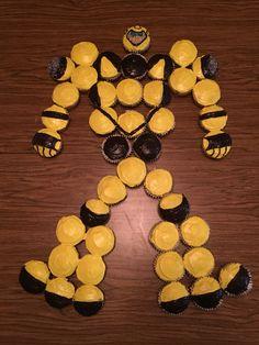 Transformer Bumblebee Cupcake Cake                                                                                                                                                                                 More