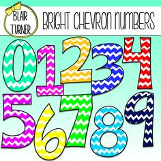 These fun chevron numbers are available FREE on my Facebook page! Would be really fun for a big number line or math word wall!
