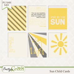 Free Sun Child Journal Cards from Pretty in Green {on Facebook}