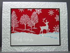 """Wintery Scene by Wdoherty - Cards and Paper Crafts at Splitcoaststampers **** SU """"Lovely as a Tree"""", """"Winter Post"""" (retired May 2012), & """"Christmas Punch"""""""