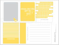 Mellow Yellow project life modern scrapbooking di projectradness
