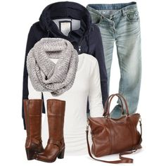 casual weekend outfit -- my style :) Fashion Mode, Look Fashion, Fashion Outfits, Womens Fashion, Fall Fashion, Fall Winter Outfits, Autumn Winter Fashion, Looks Jeans, Mein Style