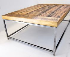 reclaimedwood coffee tables | ... coffee table with an industrial metal frame / Ripley coffee table with