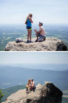 This surprise hiking proposal is unreal. She said yes on top of a mountain!