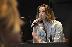 Conferencia de prensa en la Universidad de Palermo, Buenos Aires, Argentina.