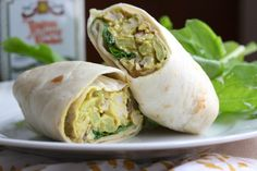Chicken curry wraps