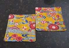 Japanese Fabric Pair Coasters/和柄コースター