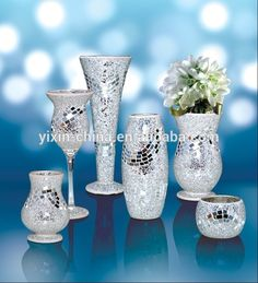 Mosaico de vidro flor vasos para o casamento-em Artesanato de vidro de Brindes e artesanato em m.portuguese.alibaba.com.