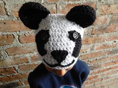 Crochet Pattern for Panda Beanie for Child 4 Years Old to Adult-instructions in English.
