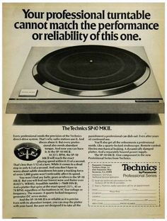 Vintage Technics SP-10 ad from Billboard