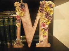wood letter Wood Letters, Crown, Lettering, Wedding, Jewelry, Valentines Day Weddings, Wooden Letters, Corona, Jewlery