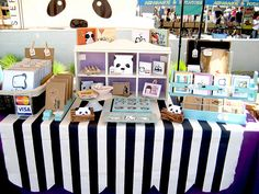 event: mini-mart. by steppie, via Flickr... love the table cloth