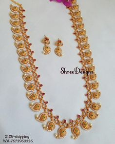 Whatsapp 7673963336 to buy Gold Chain Design, Gold Bangles Design, Gold Jewellery Design, Mango Mala Jewellery, Mango Necklace, Gold Jewelry Simple, Bridal Jewelry, Cod, Wedding
