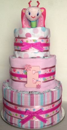 Nappy cake - girl (front)
