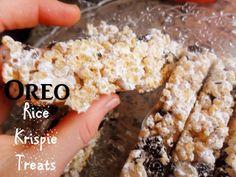 Rececatas: Oreo Rice Krispie Treats (barritas de arroz inflado con oreo)