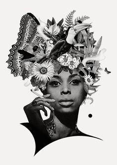 Ciara Phelan, collages preciosistas | El tarro de ideasEl tarro de ideas