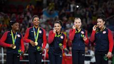 "Olympics in Rio 2016 - Women's gymnastic team USA ""The Final Five"". The girls take home the gold. 
