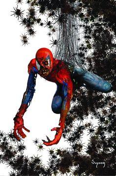 Zombie Spider-Man by Arthur Suydamy