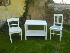 Marionneta: Stodolní nálezy... Outdoor Furniture Sets, Outdoor Decor, Dining Chairs, Home Decor, Decoration Home, Room Decor, Dining Chair, Home Interior Design, Dining Table Chairs