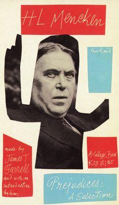 A Paul Rand book cover design for Prejudices: A Selection.
