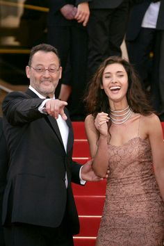 Jean Reno and his daughter. So lovely