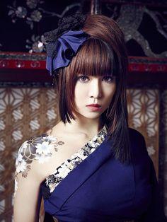 I love Beni ninagawa My Muse, Visual Kei, Rock Music, Wedding Hairstyles, Kimono, Singer, Asian, Hair Styles, Model
