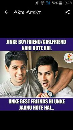 3 Idiots, Shyari Quotes, Boyfriend Girlfriend, Bollywood, Friendship, Best Friends, Jokes, Funny, Beat Friends