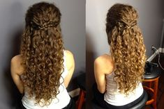 Hairstyles For Curly Hair Down Half Up Half Down Updo For Naturally Curly Hair: Easy Braided … 50 Half Up Half Down Hairstyles for Everyday and Party Looks 27 Gorgeous Prom Hairstyles for Long Hair Really Curly Hair, Curly Hair Tips, Long Curly Hair, Naturally Curly Hair, Short Hair, Curly Hair Braids, Curly Hair White Girl, Curly Hair Updo Tutorial, Super Curly Hair