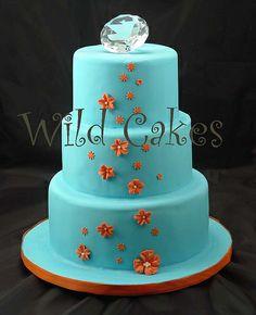 Blue and orange cake!