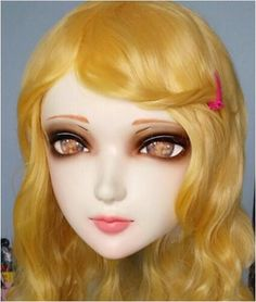 ((Kig14)Gurglelove Female Sweet Girl Resin Half Head Kigurumi BJD Mask Cosplay Japanese Anime Role Lolita Mask Crossdress Doll-in Masks & Eyewear from Novelty & Special Use on Aliexpress.com | Alibaba Group