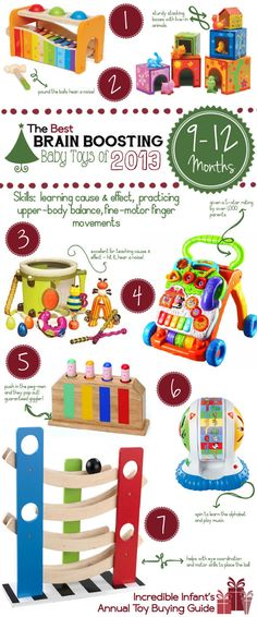 Awesome Baby Learning Toys for Ages 9 - 12 Months http://www.incredibleinfant.com/sweet-stuff/best-baby-toys-2013/
