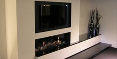 Nice fireplace with TV above Fireplace Tv Wall, Tv Above Fireplace, Living Room Designs, Fireplace Tv Stand, House, Gas Fireplace, Interior Design, Wall Unit, Lounge Room
