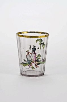 Bohemian, cut, enamelled and gilt glass, 18th c