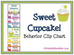 This colorful & fun cupcake themed behavior chart fits in well with the 'green–yellow–red' behavior system used in many schools, yet provides positive recognition for students who go above & beyond. Perfect for your themed classroom. Kindergarten Behavior Charts, Behavior Clip Charts, Behaviour Chart, Kindergarten Classroom, Classroom Themes, Classroom Activities, Kindergarten Rocks, Future Classroom, Teacher Boards
