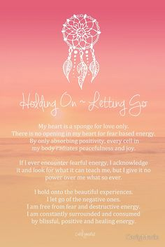 """""""Affirmation - Holding On ~ Letting Go"""" by CarlyMarie 