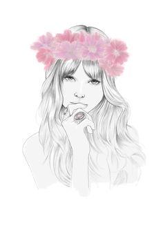 Primavera Floral - Sally Faye Cotterill, UK Fashion & Beauty Illustrator,