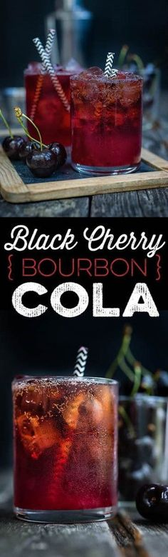 Black Cherry Bourbon Cola Smash - a refreshing cocktail is perfect for hot summer evenings, simple, a little sweet, and popular with everyone.