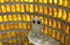 Helen Martins was the creative force behind Nieu Bethesda's Owl House, a weird and wonderful paradise of concrete figurines and light reflecting glass. Installation Architecture, Artistic Installation, Watts Towers, Sculpture Art, Sculptures, Eccentric Style, Bottle Wall, Art Brut, Out Of Africa