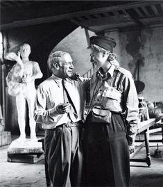 Fotos raras de gente famosa 3                        Lee Miller e Pablo Picasso, 1944
