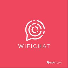 Modern logo, Minimal logo, minimalist, Fiverr logo, fiverr logo design, C logo, creative logo design, cool logo design, branding, identity, Bubble, chat, wifi, network