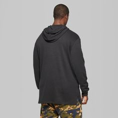 Men's Big & Tall Oversized Hooded Sweatshirt - Original Use Black 2XBT