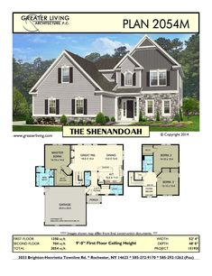 Floor Master House Plans Luxury Plan the Shenandoah House Plans Two Story House Two Story House Plans, Two Story Homes, New House Plans, Modern House Plans, House Floor Plans, Modern Architecture House, Architecture Plan, Residential Architecture, Craftsman Bungalow House Plans