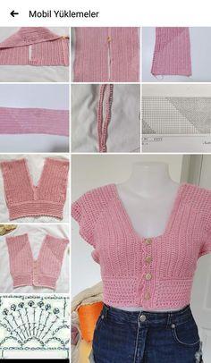 Diy Crochet Top, Crochet Summer Tops, Crochet Girls, Crochet Blouse, Vintage Crochet, Crochet Baby, Crochet Skirt Pattern, Diy Crochet Projects, Crochet Fashion