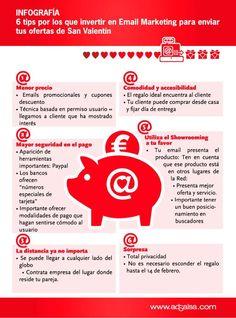 Email marketing para San Valentín #infografia #infographic #marketing